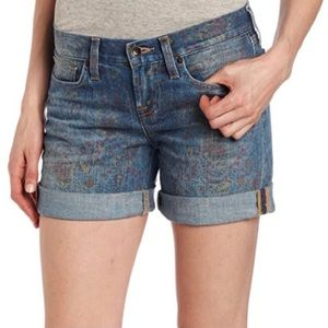 LUCKY BRAND Wildflower Paisley Abbey  Denim Shorts